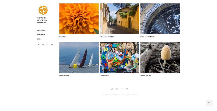 Esempio di portfolio fotografico - Giovanni Bertagna Portfolio - Adobe Portfolio