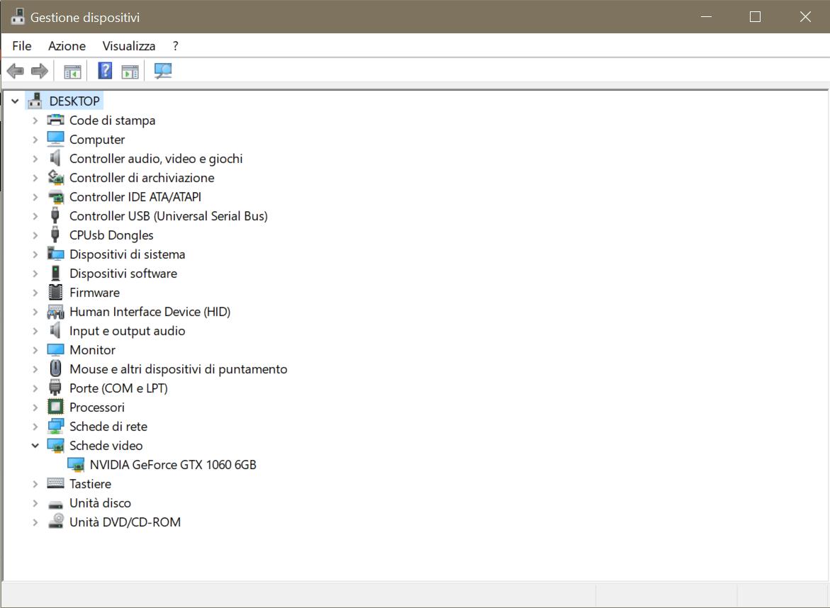 Windows 10 - Gestione dispositivi