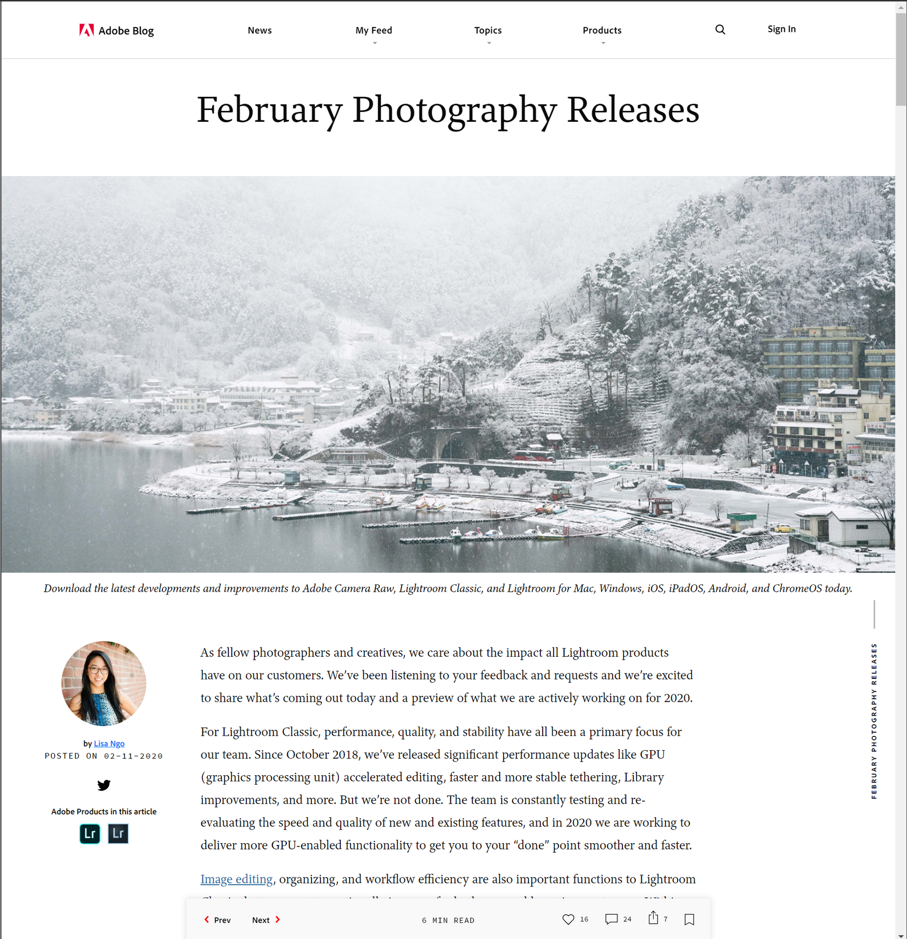 Adobe Blog - February Photography Releases